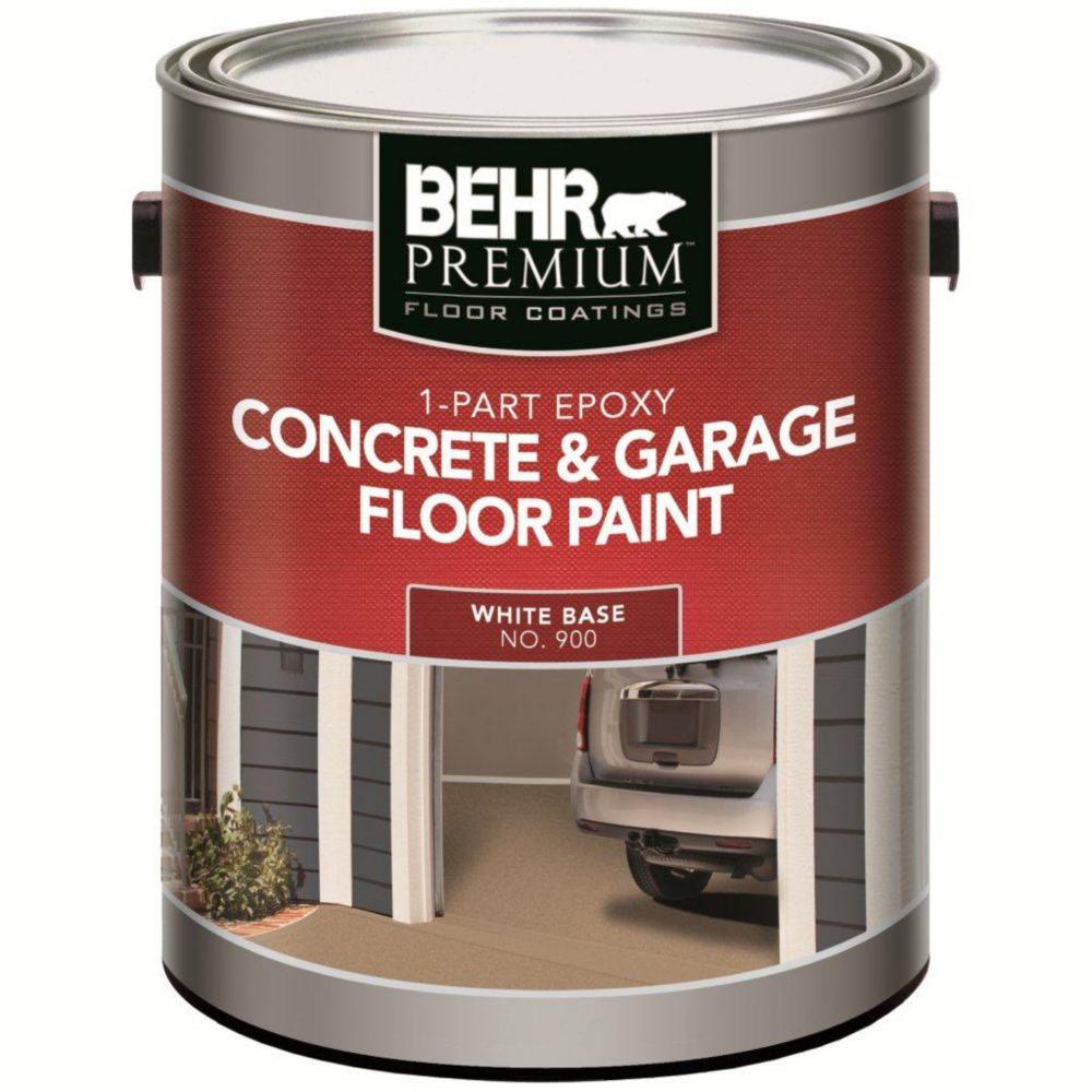 Behr 1 part epoxy acrylic concrete garage floor paint for Concrete floor coatings