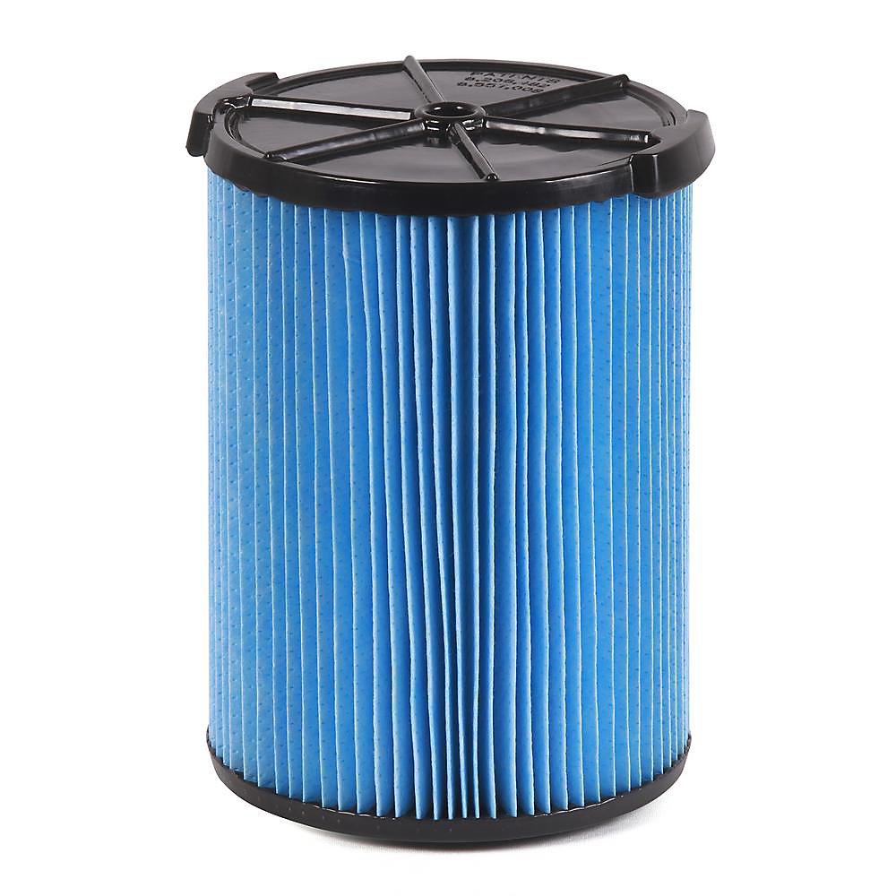 Filtre pour poussières fines pour les aspirateurs sec/humide 18,9 l (5 gal.) et plus
