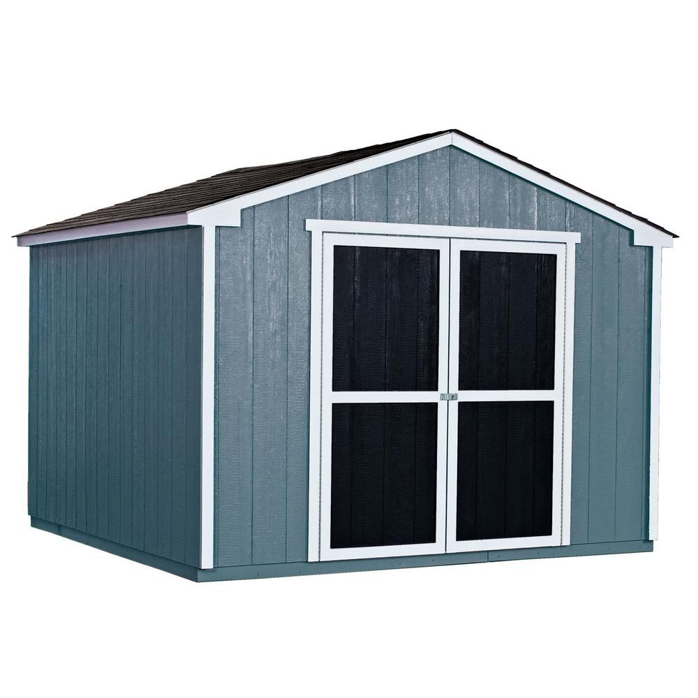 Handy home products princeton shed with floor frame 10 ft for Garden shed 10x10