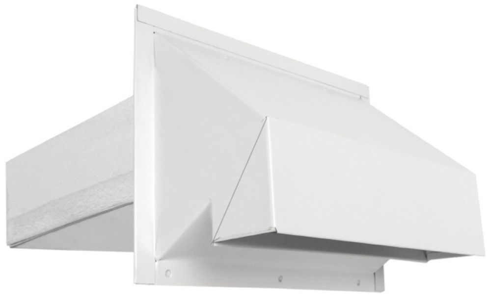 3-1/4x10 Inch R2 Exhhaust Hood with screen - white
