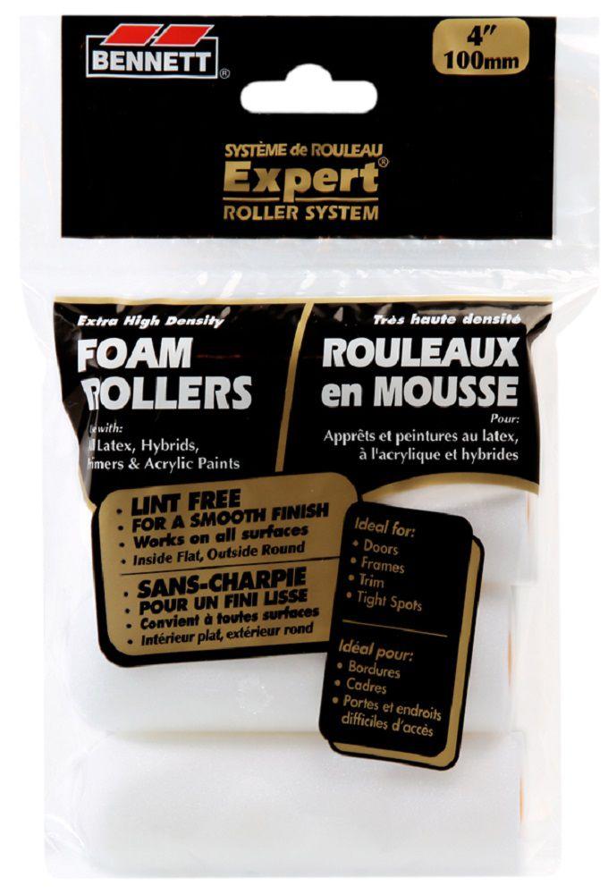 MINI ROULEAUX RECHARGES 4 PQ DE MOUSSE