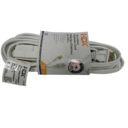 HDX 12 ft. Indoor Extension Cord in White