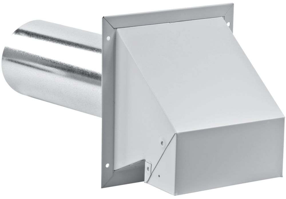 4 Inch R2 Exhaust Hood with screen - white