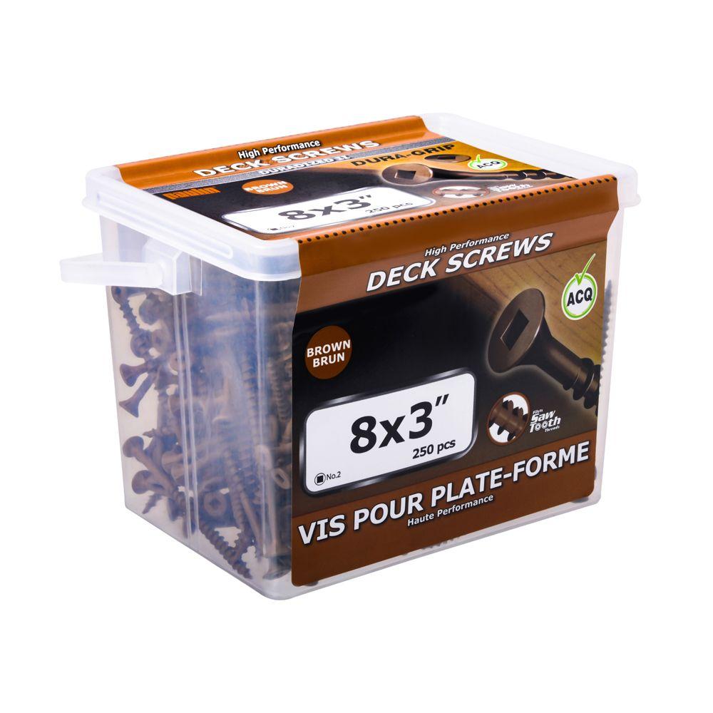 8x3 Cedar Deck Screws - 250 Pieces