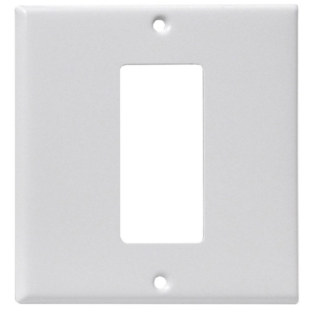 Leviton Back & Face Plate, White