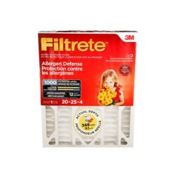 Filtrete Filters 20-inch x 25-inch x 4-inch Allergen Reduction MPR 1000 Deep Pleated Filtrete Furnace Filter