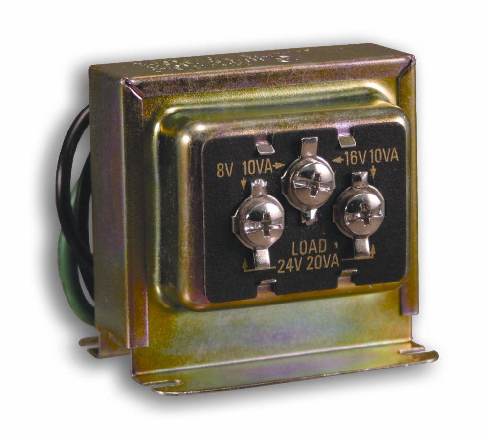 Transformateur de carillon de porte câblé