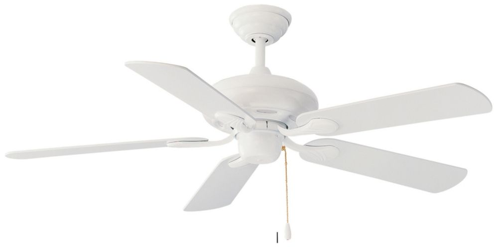 White Contractor Ceiling Fan - 52 Inch