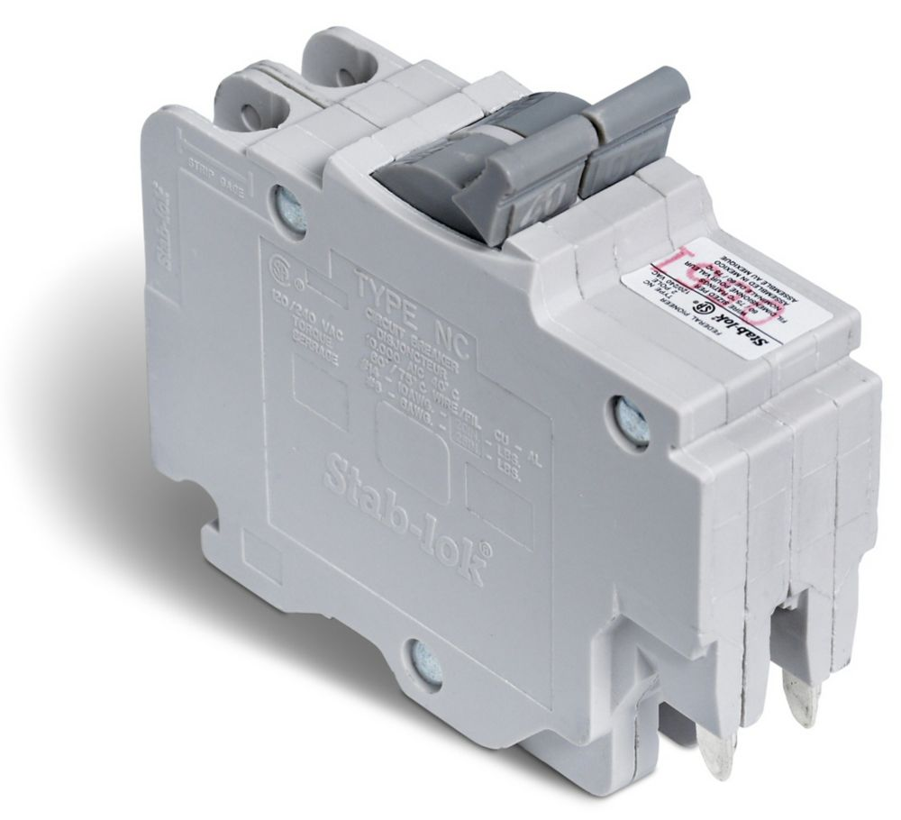 Schneider Electric Double Pole 40 Amp Stab-lok (NC) Plug-On Circuit ...