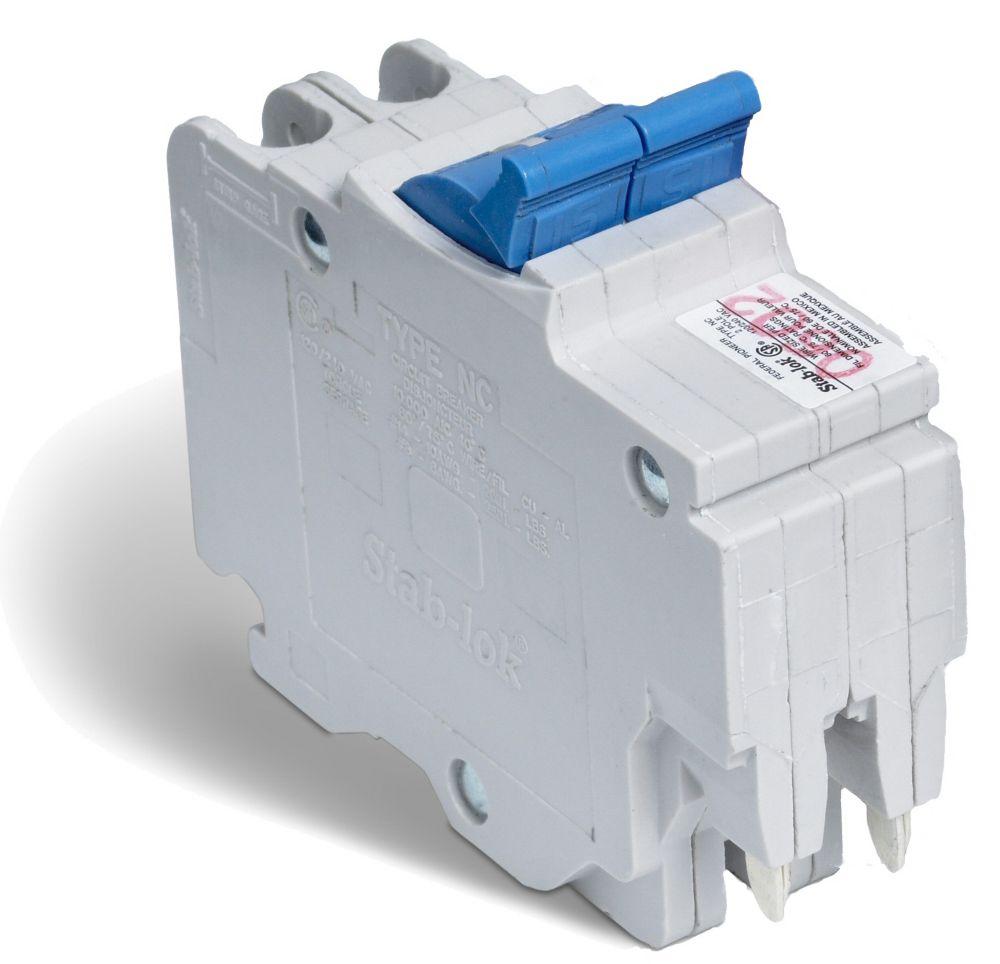 Double Pole 15 Amp Stab-lok (NC) Plug-On Circuit Breaker