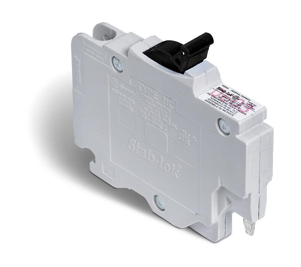 Single Pole 15 Amp Stab-lok (NC) Plug-On Circuit Breaker on