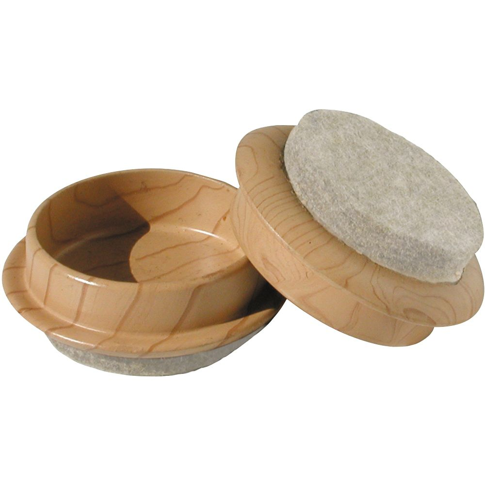1-3/4 Inch  Wood Grain Caster Cup