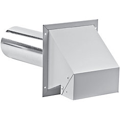 6 Inch R2 Exhaust Hood with screen - white