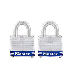 Master Lock Cadenas laminé 1 1/2 po - Emballage de 2