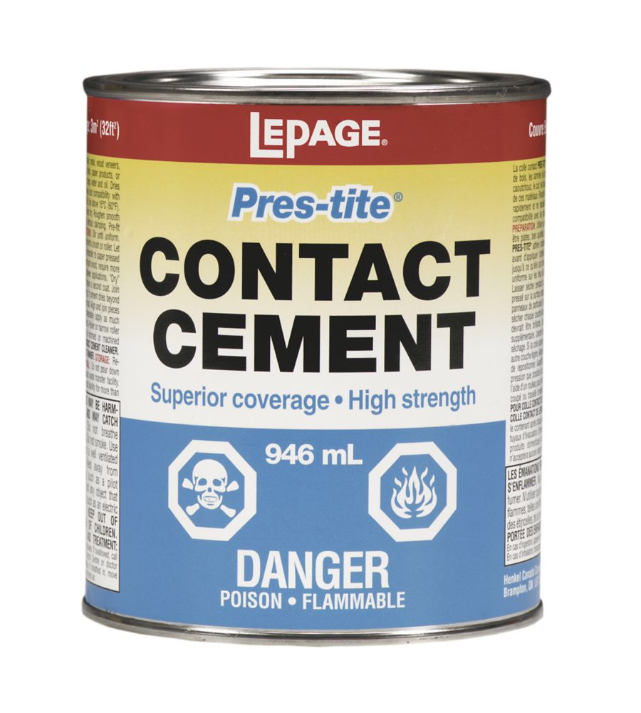 LePage<sup>®</sup> Pres-Tite<sup>®</sup> Contact Cement 946ml