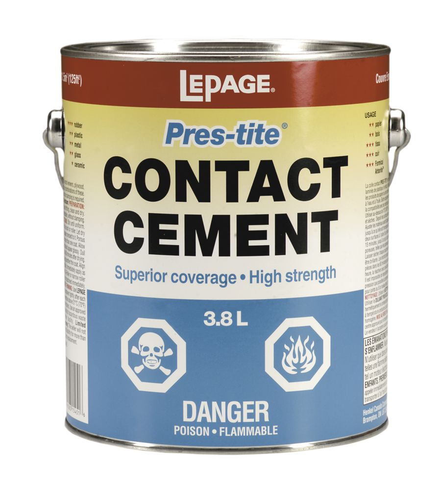 LePage<sup>®</sup> Pres-Tite<sup>®</sup> Contact Cement 3.8L