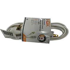 6 ft. Indoor Extension Cord in White