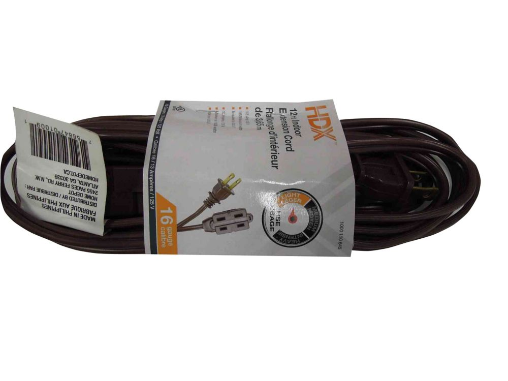 12 Feet Indoor Extension Cord