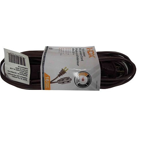 HDX 12 ft. Indoor Extension Cord in Brown