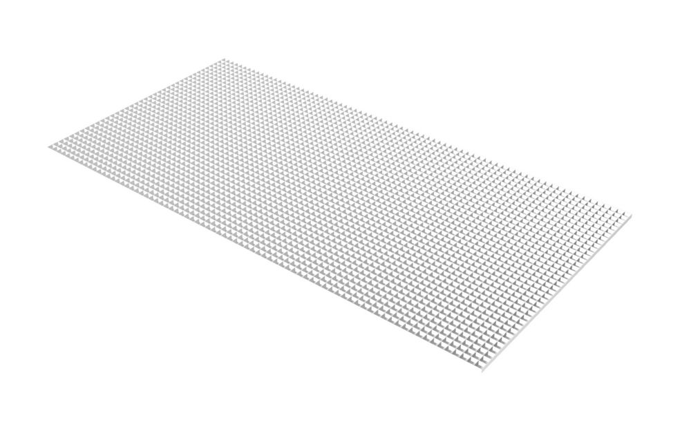 Egg Crate White Louver - 23.75 Inch x 47.75 Inch