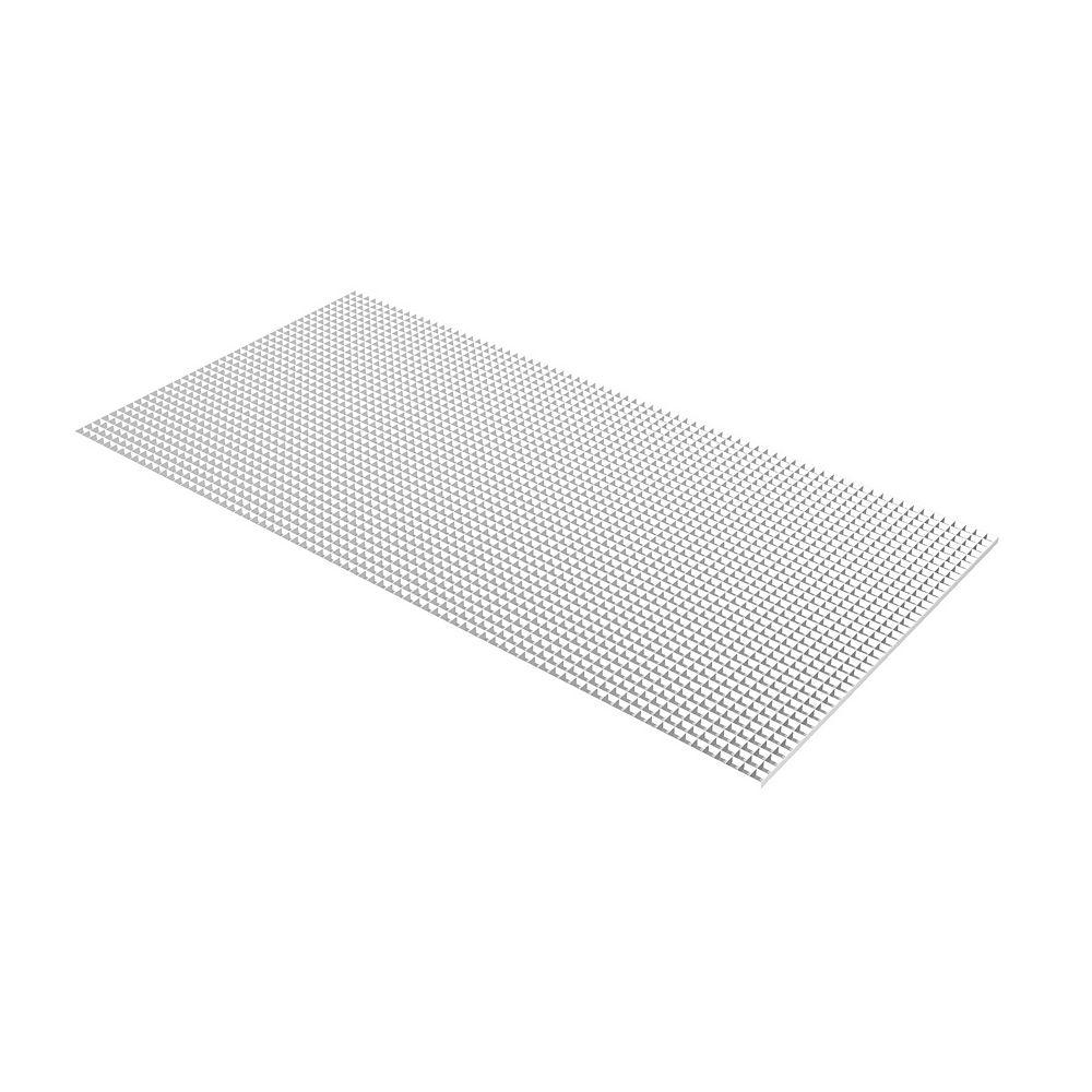 Plaskolite Grille blanche en panneaux alvéolés de 60 cm x 121 cm (23,75 po x 47,75 po)