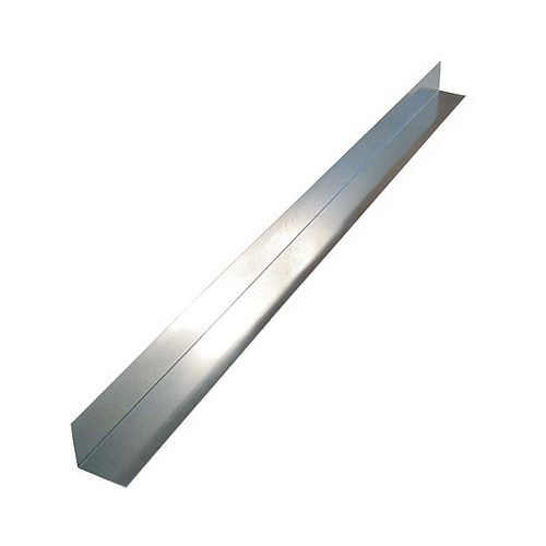 Peak Products Flashing Angle, 3 inch x 3 inch x 10 feet - Mill Galvanized