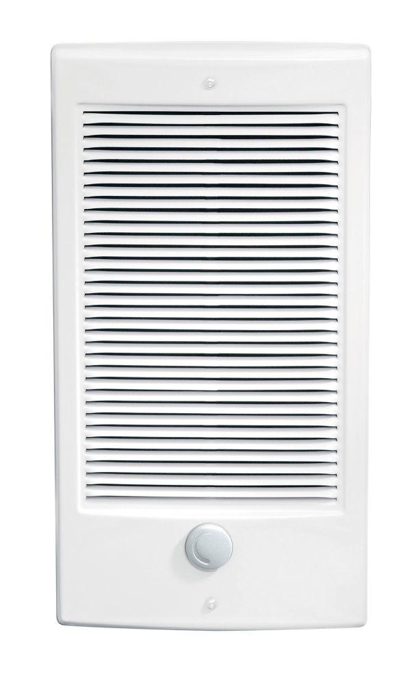 Radiateur électrique mural à air pulsé de 2000W / 240V  - blanc