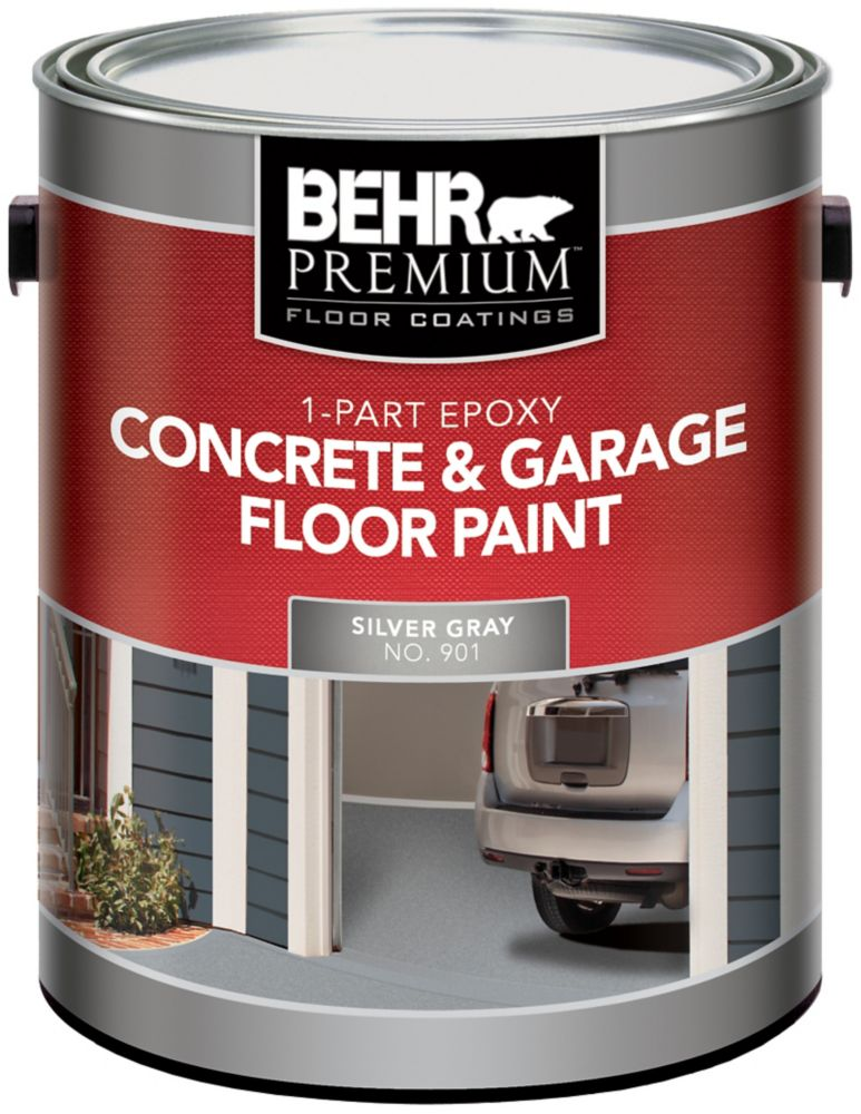 behr behr 1 partie poxy peinture pour b ton planchers de garage gris argent 3 79l home. Black Bedroom Furniture Sets. Home Design Ideas