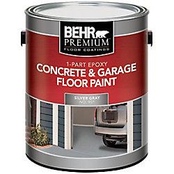 BEHR 1-Part Epoxy Concrete & Garage Floor Paint - Silver Gray, 3.79L