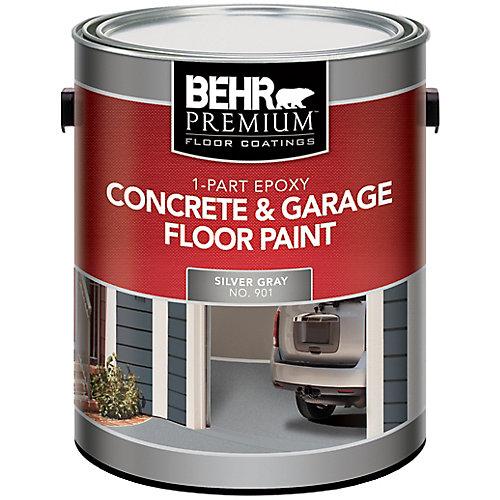 1-Part Epoxy Concrete & Garage Floor Paint - Silver Gray, 3.79L