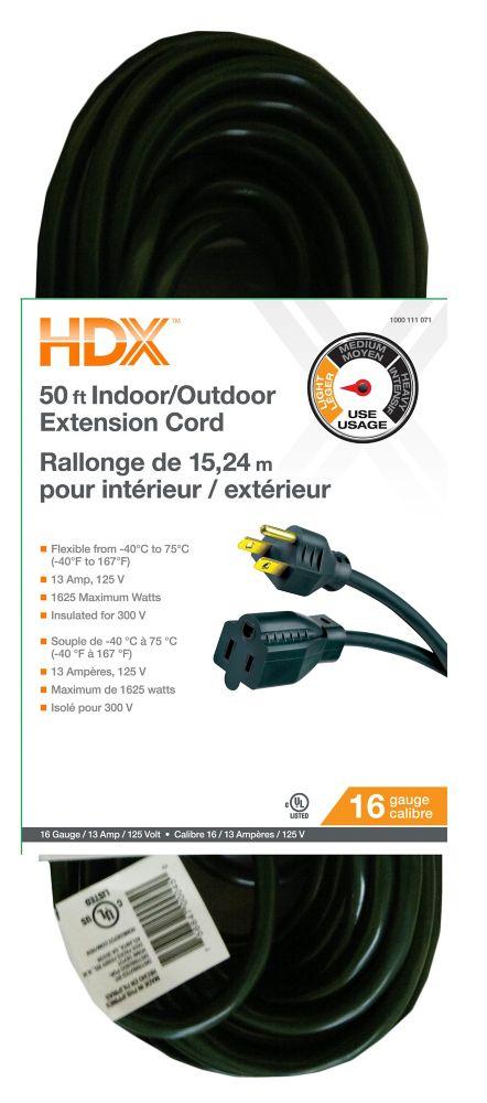 rallonge électrique SJTW 16/3 50Ft