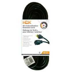 HDX 50 ft. 16-Gauge Indoor/Outdoor Extension Cord in Green
