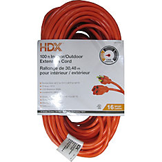 100 ft. Indoor/Outdoor Extension Cord in Orange