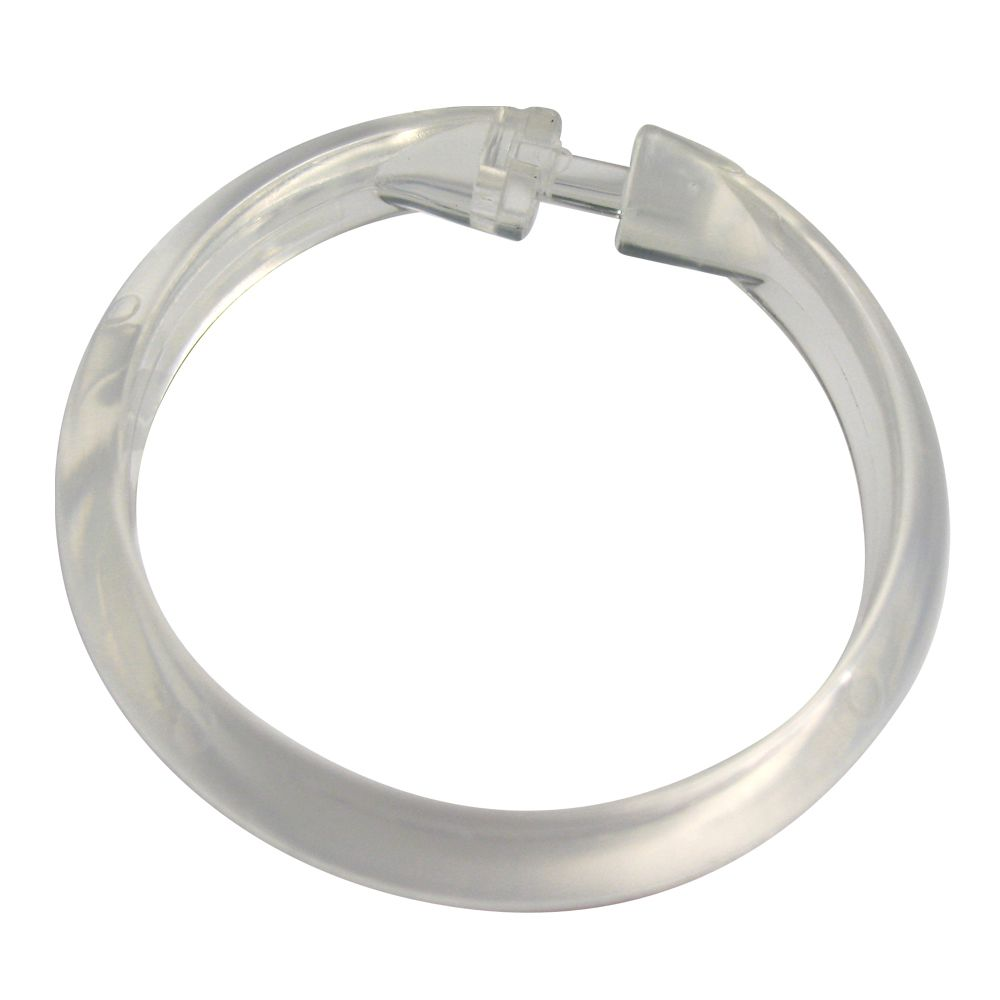 Plastic Shower Curtain Rings (12-Pack)