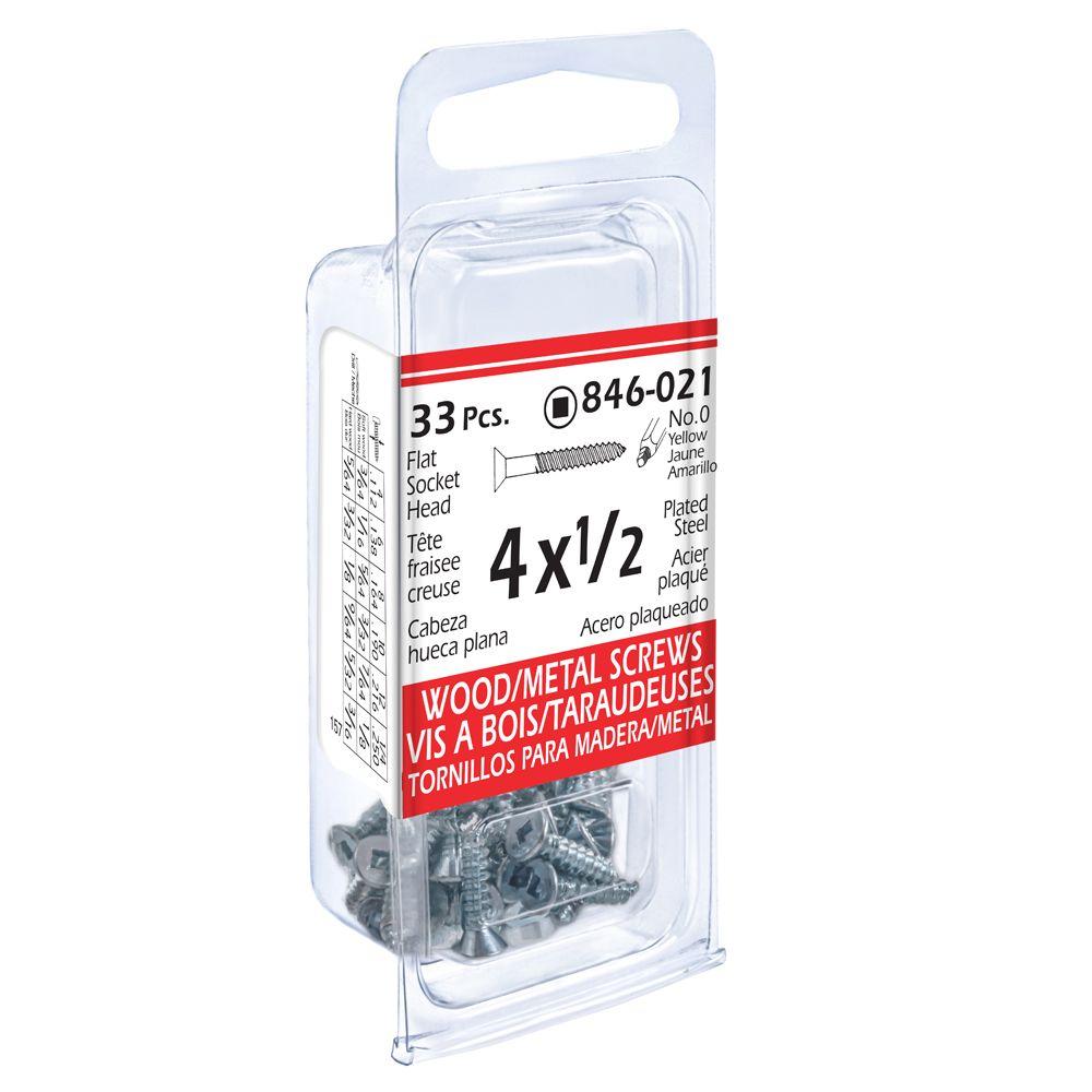 4x1/2 Fi Soc Wd/Mtl 33Pc Pcld Screw
