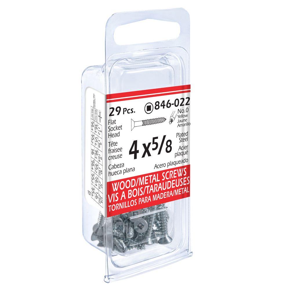 4x5/8 Fi Soc 29Pc Pctd Wd/Mtl Screw