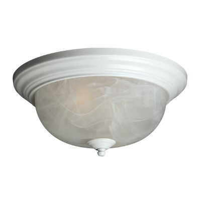 13 In. Ceiling Fixture With Marbled Glass