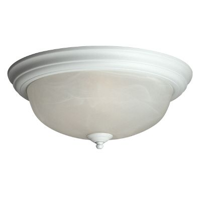 15 In. Ceiling Fixture With Marbled Glass