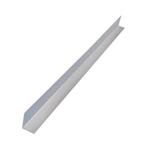 Flashing Angle, 4 inch  x 4 inch  x 10 feet - White Galvanized