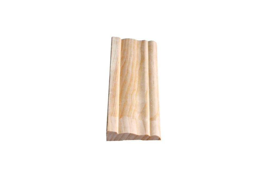 Dormant colonial jointé, pin 9/16 x 2 1/2 (Prix par pied)
