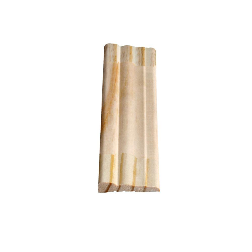 Dormant colonial jointé, pin 13/32 x 1 15/16 (Prix par pied)