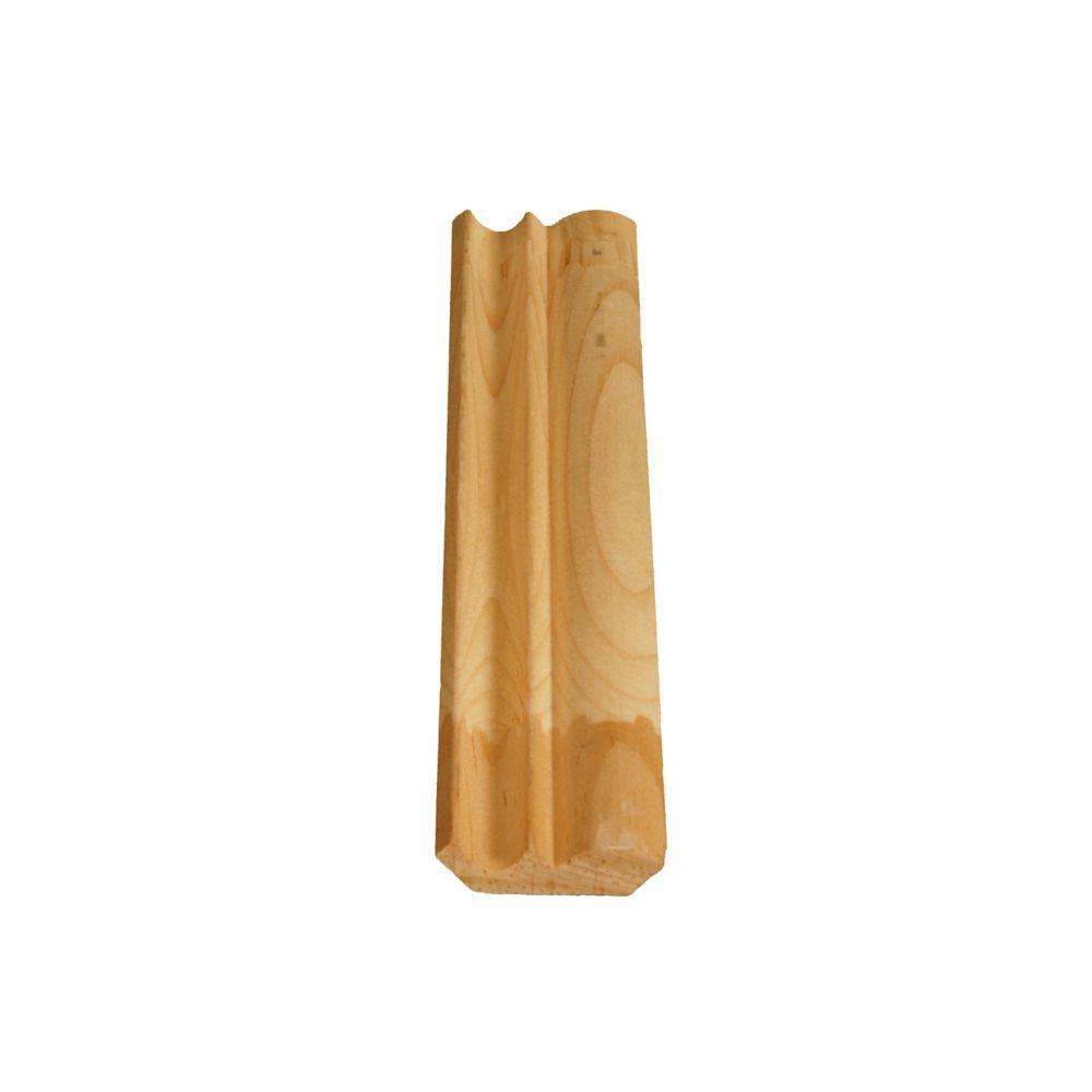 Doucine/Couronne jointée en pin 7/16 x 1 5/8 (Prix par pied)