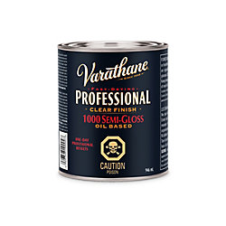 Varathane Professional Oil-Based Clear Finish In Semi-Gloss Clear, 946 Ml