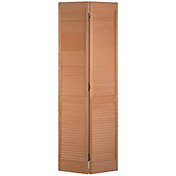 Masonite 30-inch x 80-inch Clear Pine Full Louver Bifold Door