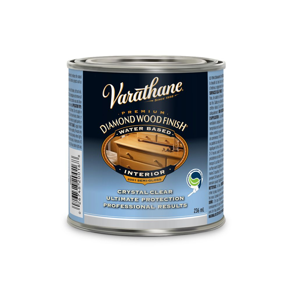 Varathane Diamond Wood Finish - Int. (Water, Semi-Gloss) (236ml)