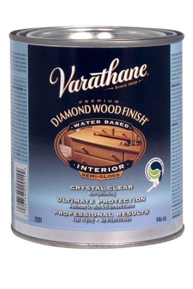 Diamond Wood Finish - Int. (Water, Semi-Gloss) (946ml)