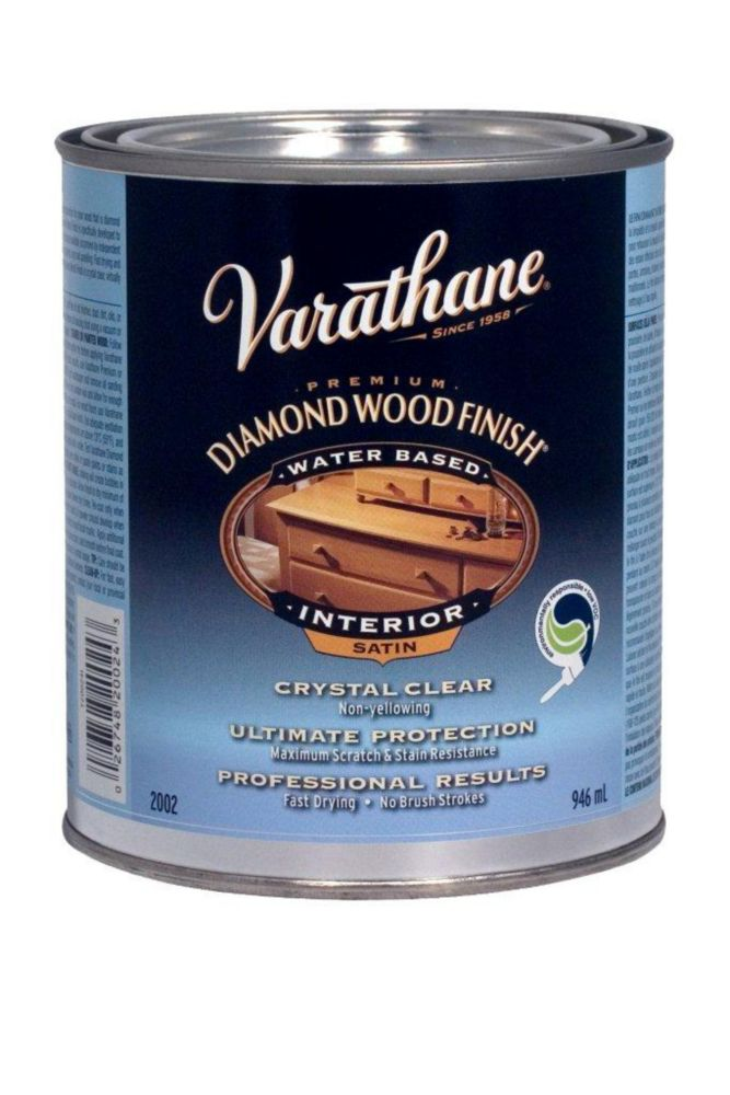 Varathane Diamond Wood Finish - Int. (Water, Satin) (946ml)