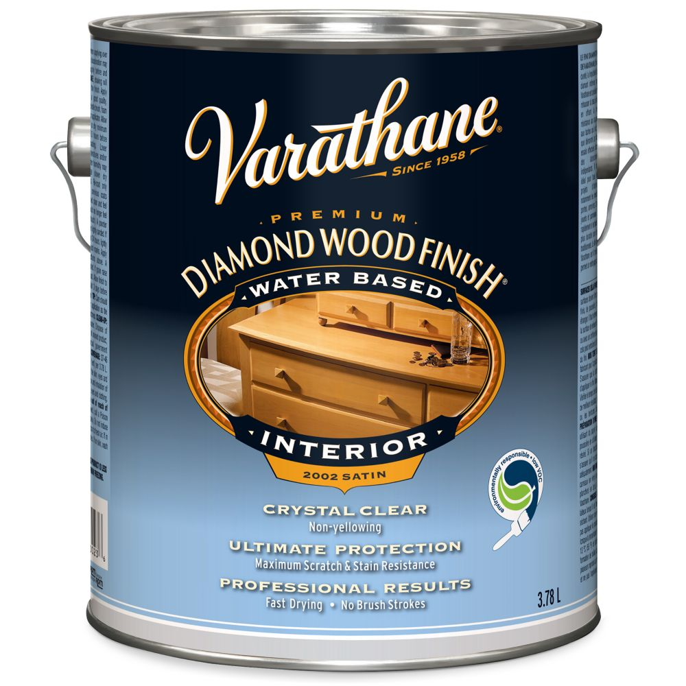 Varathane Diamond Wood Finish - Int. (Water, Satin) (3.78L)
