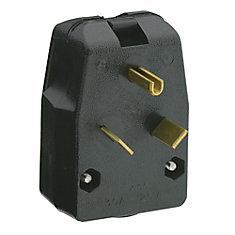 30 Amp Angle Plug 125 Volt, NEMA TT-30P, 2P, 3W