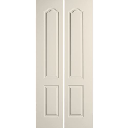 Masonite 24-inch x 80-inch 2-Panel Arch Top Textured Bi-fold Door